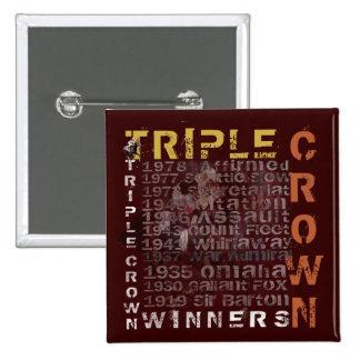 Carrera de caballos de los ganadores del Triple Cr Pin Cuadrado