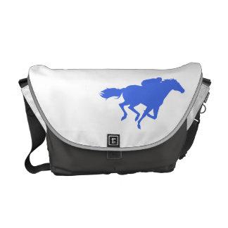Carrera de caballos del azul real bolsas messenger
