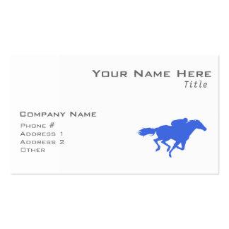 Carrera de caballos del azul real tarjetas personales