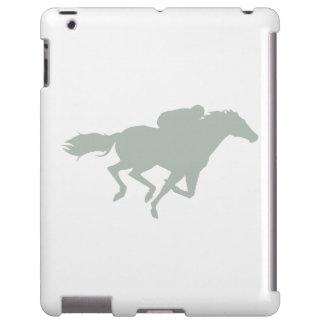 Carrera de caballos del gris de ceniza funda para iPad