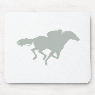 Carrera de caballos del gris de ceniza tapetes de ratón