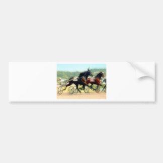 carrera de caballos del poder el trotar etiqueta de parachoque