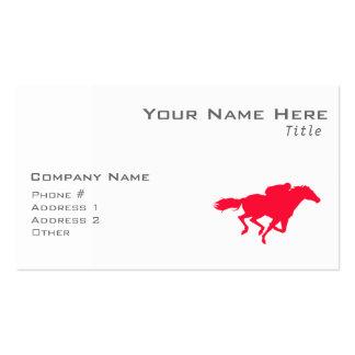 Carrera de caballos del rojo del escarlata tarjeta de visita