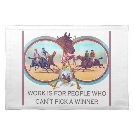 Carrera de caballos divertida - trabaje para la ge mantel