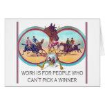 Carrera de caballos divertida - trabaje para la ge tarjeta