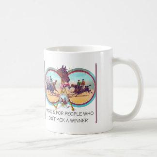 Carrera de caballos divertida - trabaje para la ge taza de café