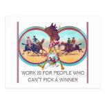 Carrera de caballos divertida - trabaje para la postal