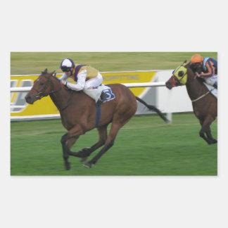 Carrera de caballos en imágenes del césped del ji pegatina