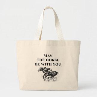 carrera de caballos excelente bolsa tela grande