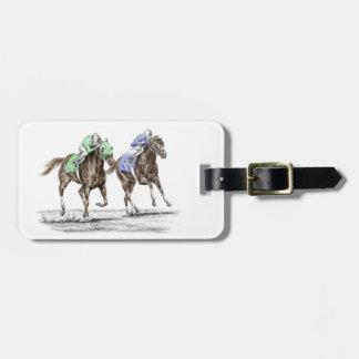 Carrera de caballos excelente etiquetas de equipaje