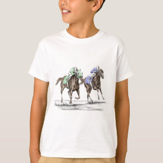 Carrera de caballos excelente playera