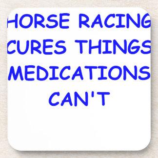 carrera de caballos excelente posavaso
