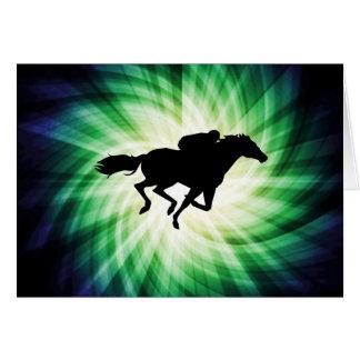 Carrera de caballos; Fresco Felicitacion