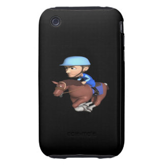 Carrera de caballos tough iPhone 3 funda