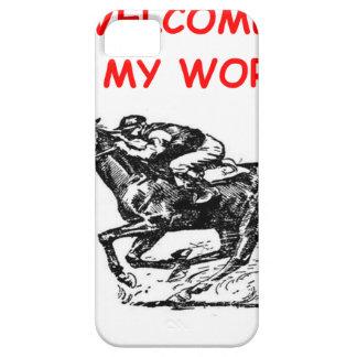 carrera de caballos iPhone 5 carcasas