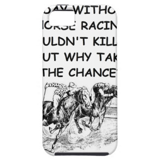 carrera de caballos iPhone 5 carcasa