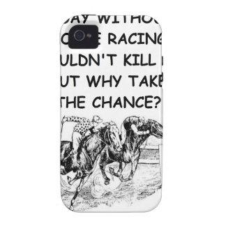 carrera de caballos iPhone 4 carcasas