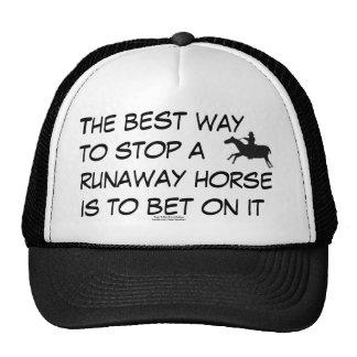 Carrera de caballos gorros bordados