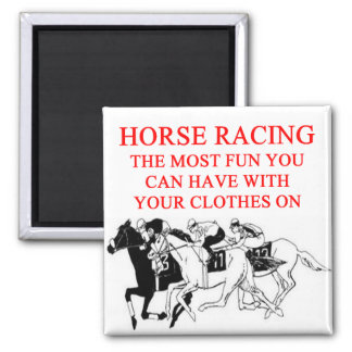 Carrera de caballos imán cuadrado