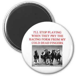 carrera de caballos imán redondo 5 cm