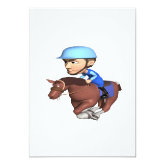 "Carrera de caballos invitación 5"" x 7"""