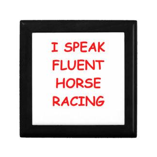 carrera de caballos joyero cuadrado pequeño