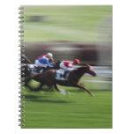 carrera de caballos libros de apuntes con espiral