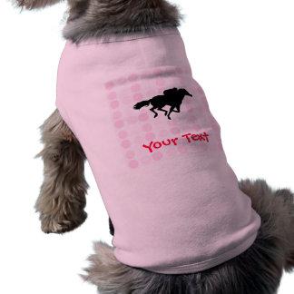 Carrera de caballos linda ropa para mascota
