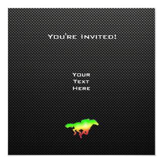 Carrera de caballos lisa invitación 13,3 cm x 13,3cm