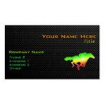 Carrera de caballos lisa tarjetas de visita