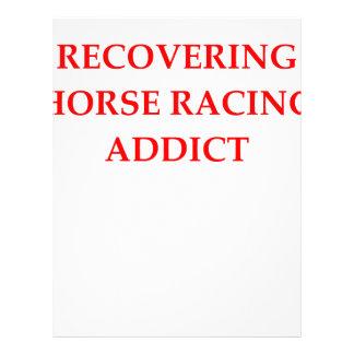 carrera de caballos membrete a diseño