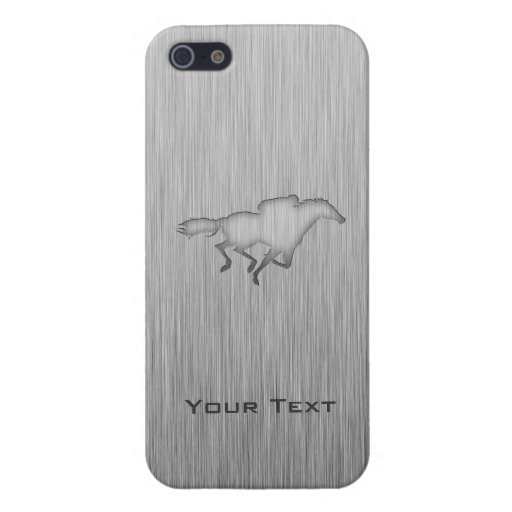 Carrera de caballos; metal-mirada iPhone 5 fundas