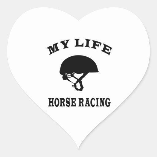 Carrera de caballos mi vida etiquetas