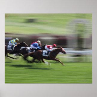 carrera de caballos poster