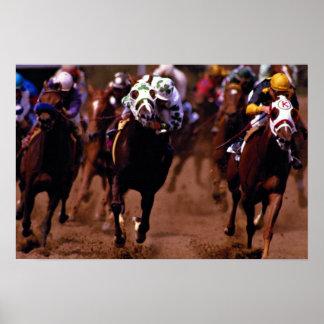Carrera de caballos posters