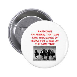 carrera de caballos pin redondo de 2 pulgadas