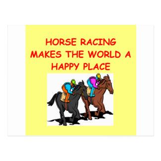 carrera de caballos postales