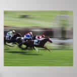 carrera de caballos póster