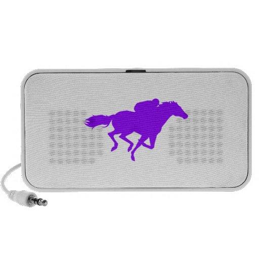 Carrera de caballos púrpura violeta laptop altavoces