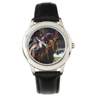 Carrera de caballos relojes de mano