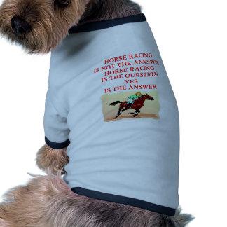 carrera de caballos ropa de perros