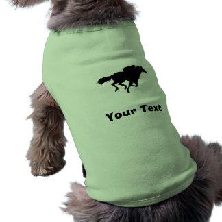 Carrera de caballos ropa perro