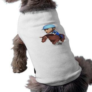 Carrera de caballos camisetas mascota