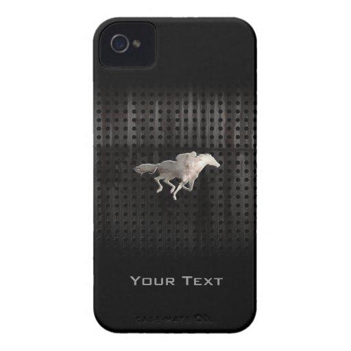 Carrera de caballos rugosa Case-Mate iPhone 4 cárcasa
