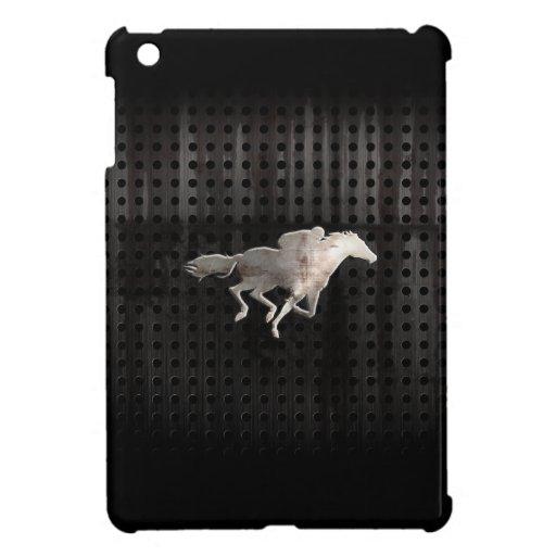 Carrera de caballos rugosa iPad mini coberturas