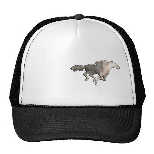 Carrera de caballos rugosa gorras