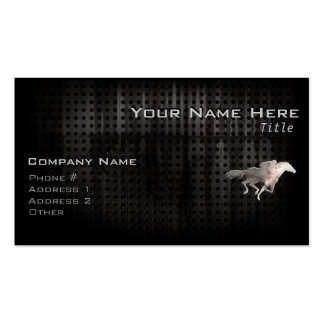 Carrera de caballos rugosa tarjetas de visita