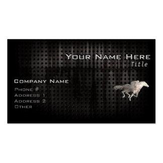 Carrera de caballos rugosa plantillas de tarjeta de negocio