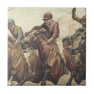 Carrera de caballos SUPERIOR Azulejo Cuadrado Pequeño
