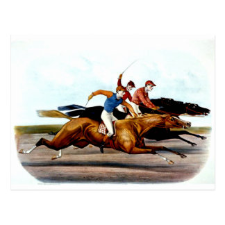 Carrera de caballos SUPERIOR del amor Postales